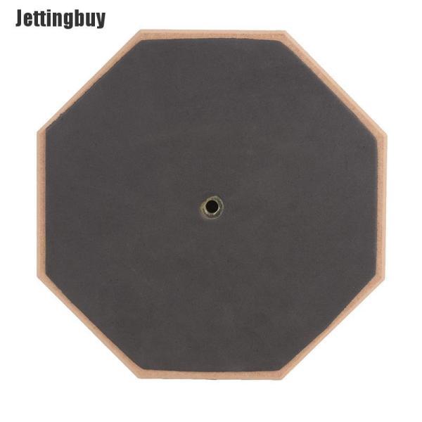 Jettingbuy 8 Inch Bằng Gỗ Cao Su Câm Trống Luyện Tập Trống Pad Nhạc Cụ
