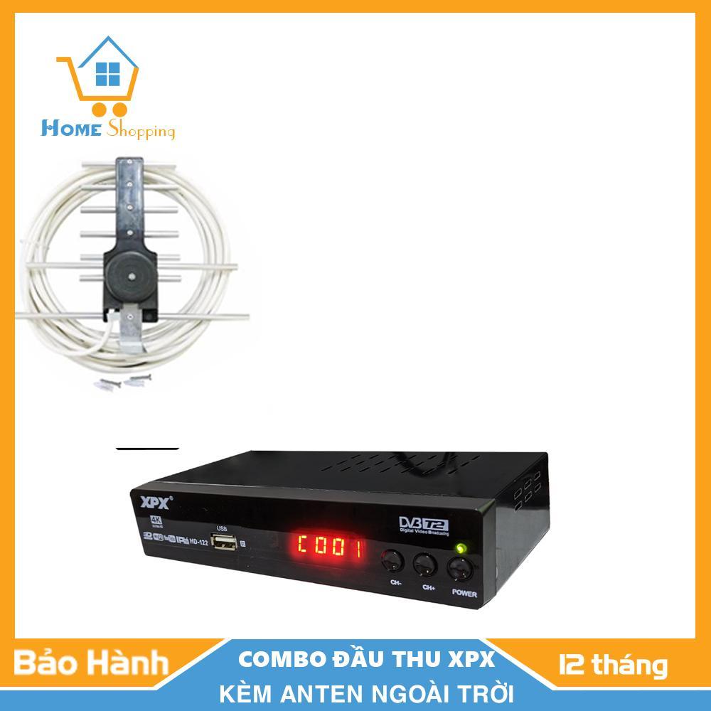 Mã Giảm Giá [COMBO] Đầu Thu-Đầu Thu Truyền Hình Mặt đất- Đầu Thu Kỹ Thuật Số DVB T2-XPX- Tặng Kèm Anten- Bảo Hành 12 Tháng