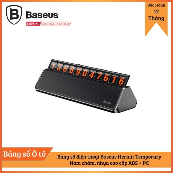 Bảng số điện thoại Baseus Hermit Temporary dùng cho xe hơi ( Nam châm, nhựa cao cấp ABS + PC )