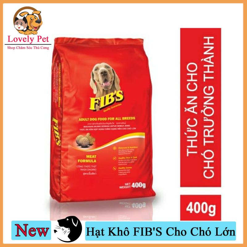 (Xả kho 3 ngày) [Mã WA090 giảm 49k đơn 315k] Lovely Pet - Thức Ăn Hạt Khô FIBS Cho Chó Lớn 400g
