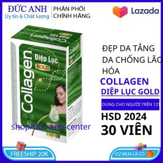 Viên uống đẹp da Collagen diệp lục đẹp da-trắng hống chống lão hóa tăng nội tiết nữ giới hộp 30 viên HSD 2024 1