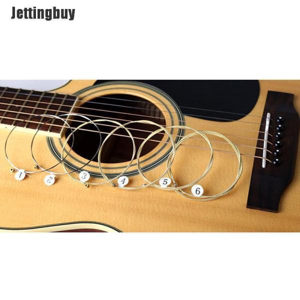 Jettingbuy 1 bộ 6 dây đàn ghita bằng thép mạ niken dành cho ghita acoustic - INTL