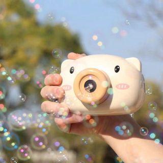 Music Piggy Bubble Machine Piggy Camera Shaped Automatic Bubble Maker Blower Machine Toy thumbnail