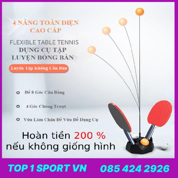 Bảng giá Bóng bàn phản xạ loại cao cấp cho trẻ - tặng kèm 20 bóng + 02 vợt + 01 đế ABS nặng 1kg - Bảo hành ( Đế + vợt + dây cáp ) 6 tháng