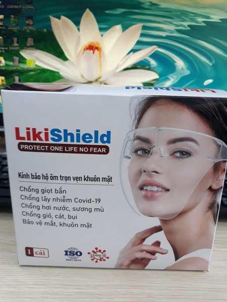 Giá bán Mắt kính bảo hộ chống dịch LIKISHIELD, chống giọt bắn, chống bụi che hết khuôn mặt bảo vệ mắt, chống sương