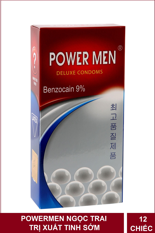 Bao cao su Powermen ngọc trai kéo dài thời gian hộp 12 chiếc nhập khẩu