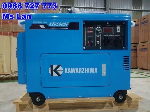 Máy phát điện chạy dầu Kawarzhima KZ6500DE( chạy dầu 5kw)