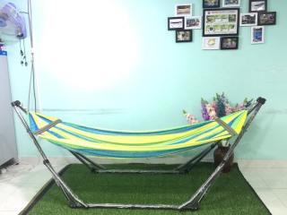 Bộ võng xếp du lịch BAN MAI khung sơn tĩnh điện VIP và Lưới thép dày 9.3 cán thép 60cm thumbnail