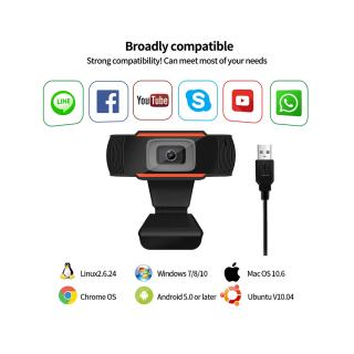 Webcam máy tính có mic Full HD USB giá rẻ cho pc, laptop chuyên dùng để học online, livestream, WC 720P High Solution. thumbnail