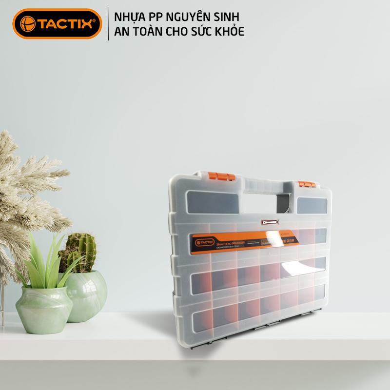 Hộp đựng linh kiện ốc vít, phụ kiện điện thoại, đồ chơi le go, đồ DIY, trang sức tiện dụng nhựa trong suốt 21 ngăn TACTIX 320001N
