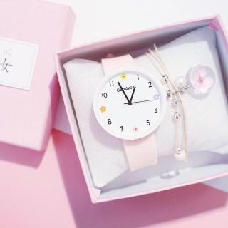 Đồng hồ thời trang nữ Candycat mặt hoa dây silicon SC873 thumbnail