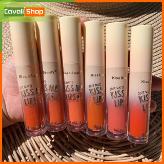[SIÊU SALE] Set 6 cây son kem Kiss Beauty Kiss Me Lips - Cavali - Son kem lì chuẩn tone, lâu trôi thumbnail