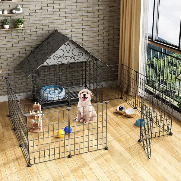 Lồng Chó Đặc Biệt Biệt Thự Trong Nhà Gia Đình Trong Con Chó Nhỏ Với Nhà Vệ Sinh Bông Lồng Chó Hàng Rào Rào Rào