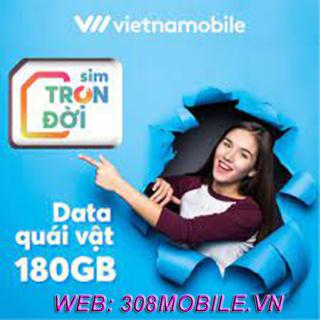 FREEship-ComBo 5sim Sim trọn đời 4G Vietnamobile-308mobile-vn, có ngay 6GB ngày 180Gb tháng, Miễn phí gọi nội mạng, sim lên mạng cực mạnh + tặng móc khóa thumbnail