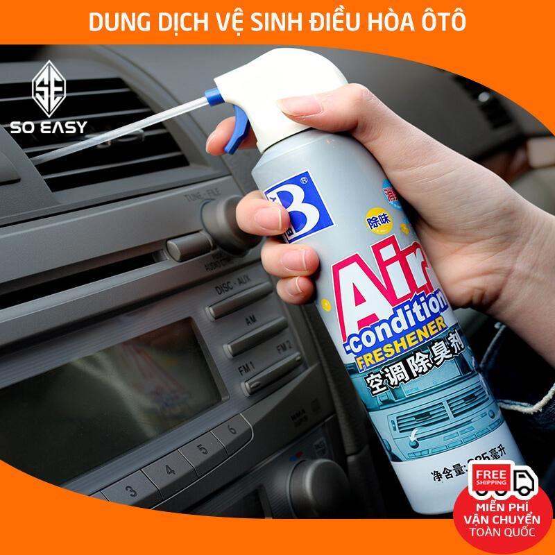 Dung dịch vệ sinh điều hòa ,máy lạnh BOTNY Air-condition Freshener 285ml, dung dịch khử mùi bộ lọc cửa gió máy lạnh trên xe hơi, xe tải, xe khách, máy lạnh trong nhà_B-1725