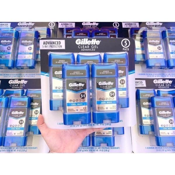 Lăn khử mùi dạng gel Gillette Clear Gel chai 107g [Hàng nhập USA] cao cấp