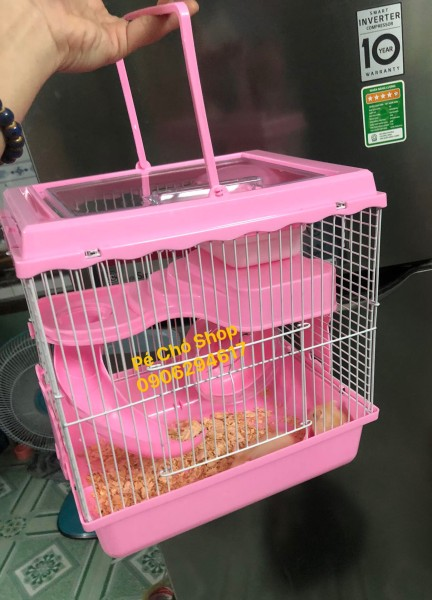 Lồng hamster hoàng tử 1 tầng nắp mika trong suốt .