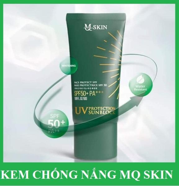 kem chống nắng MQ SKIN nhân sâm Hàn Quốc dưỡng da make up nhẹ 50g (mẫu mới)