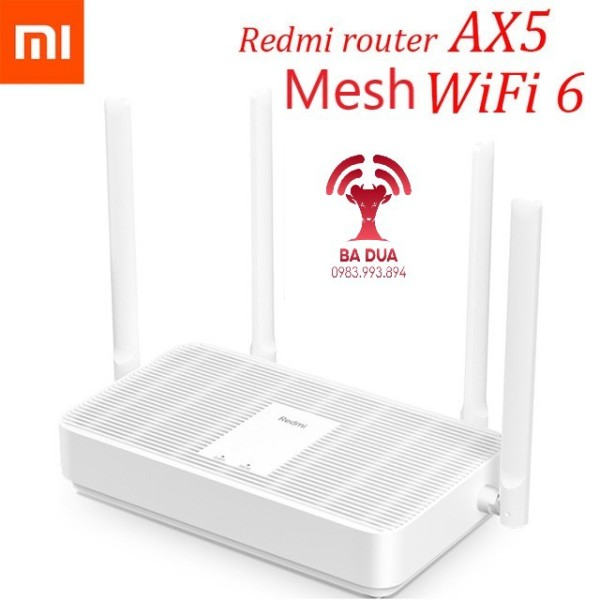Bảng giá Bộ Phát Wifi Mesh Wifi 6 Xiaomi Redmi AX5 AX1800 Phong Vũ