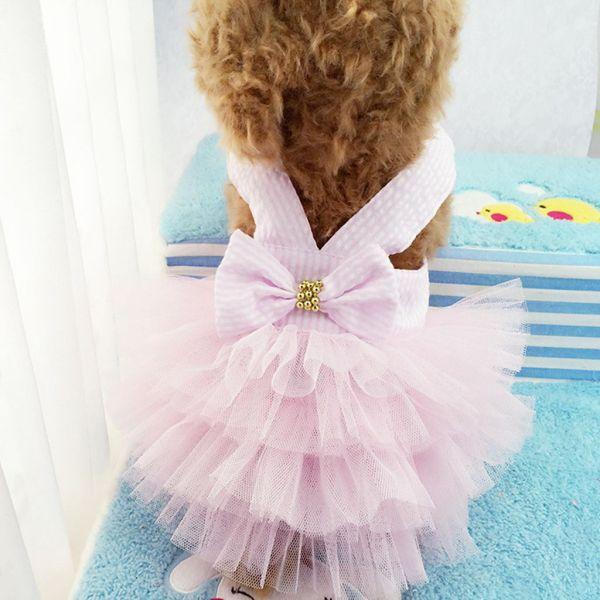 YINLMALL Dễ thương Nhiều kích cỡ Quần áo mùa xuân / mùa thu Sử dụng trong đám cưới, sinh nhật Sọc cho vật nuôi nhỏ vừa Quần áo cho mèo Váy cho mèo Quần áo cho thú cưng Váy cho chó