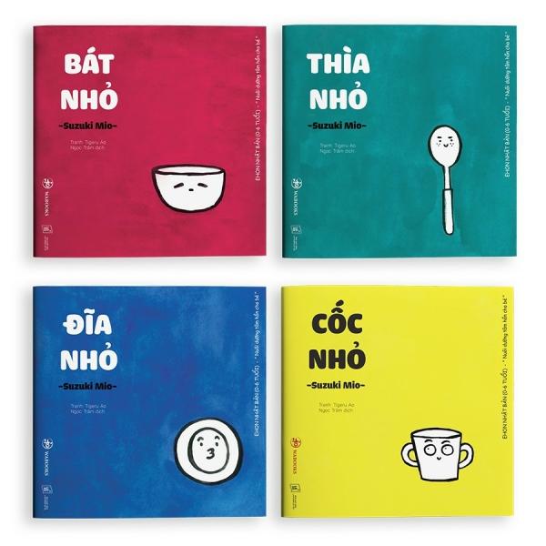 Mua Sách Ehon - Combo 4 cuốn Đồ vật - Ehon Nhật Bản dành cho bé từ 0 - 4 tuổi.