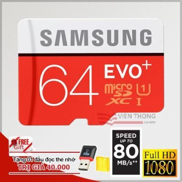 Thẻ Nhớ MicroSDXC Samsung Evo+ 64GB- Có Alapter- Hình Thật - Thẻ nhớ micro sd 64gb