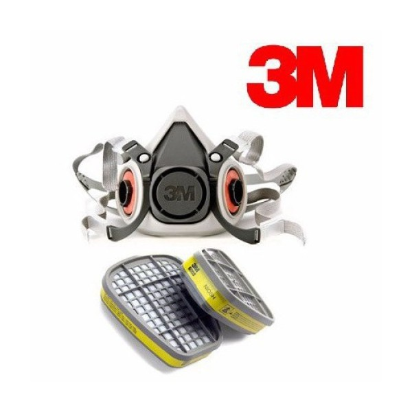 Bộ mặt nạ phòng độc 3M 6100 kèm 2 phin lọc 3M 6003