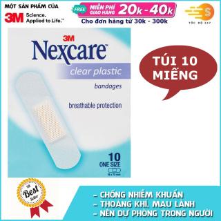 Túi 10 miếng băng keo cá nhân trong suốt Nexcare 3M BKCN-CL thumbnail