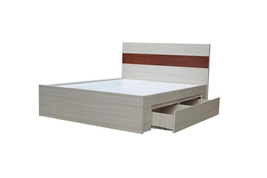 Giường Ngủ HT 28.1 Melamine Vân Gỗ chống trầy xước