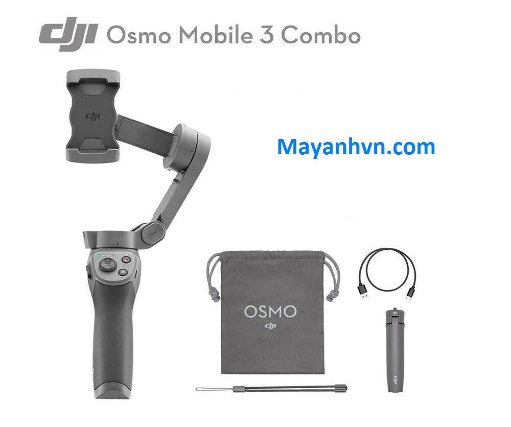 Giá Tay Cầm Chống Rung Cho Điện Thoại DJI Osmo Mobile 3 Combo ( Bảo hành 12 tháng)