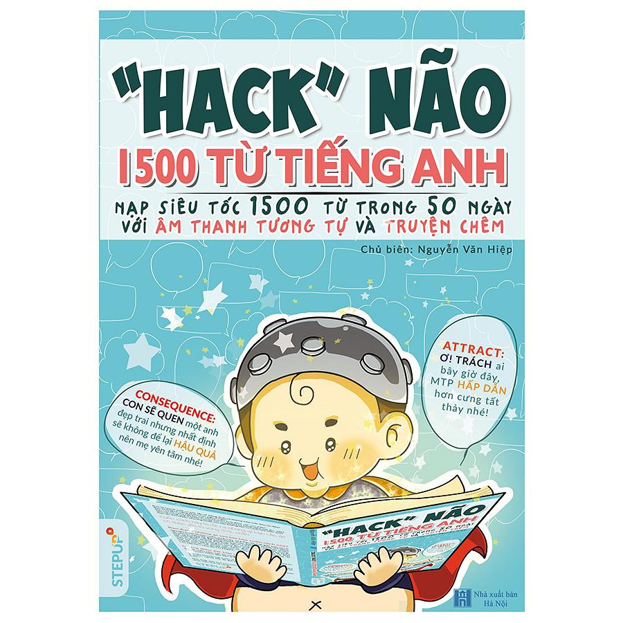 Mua [TẶNG KHÓA HỌC] Hack Não 1500 Từ Tiếng Anh (Nếu có nhu cầu có thể Chat với shop để được giảm phí ship)