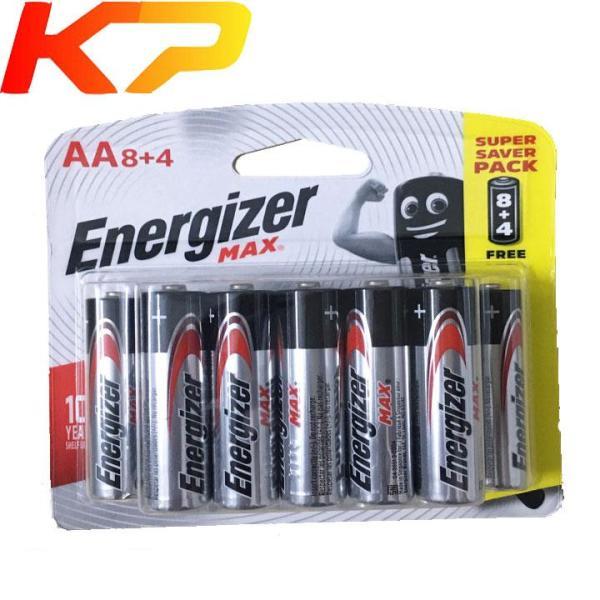 [HCM]Bộ 12 Pin AA Energizer alkaline 1.5V LR6 E91 BP8 + 4.