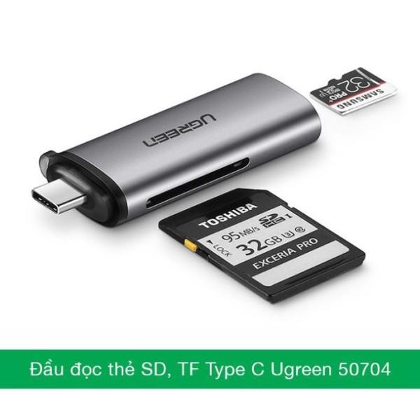 Bảng giá Đầu đọc thẻ SD/TF cắm điện thoại cổng USB Type C Ugreen 50704 Bảo hành 18 tháng Phong Vũ