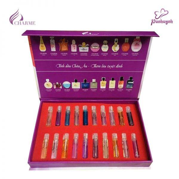 Bộ mẫu thử test nước hoa Charme 20 mùi