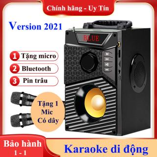 Loa Kẹo Kéo Công Suất Lớn, loa bluetooth karaoke mini cầm tay, loa hat karaoke - Sản phẩm chính hãng, bảo hành uy tín 1 đổi 1 Mẫu mới nhất 2021 thumbnail
