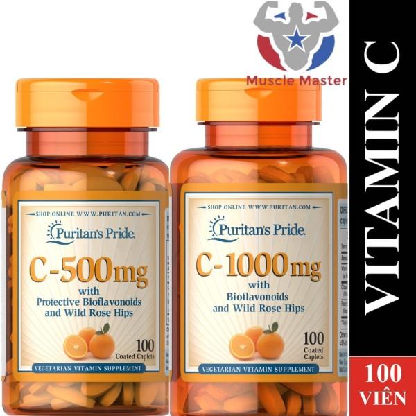 Viên Uống Bổ Sung Vitamin C Puritans Pride Vitamin C 500mg và 1000mg 100 viên - 1000mg 100 Viên