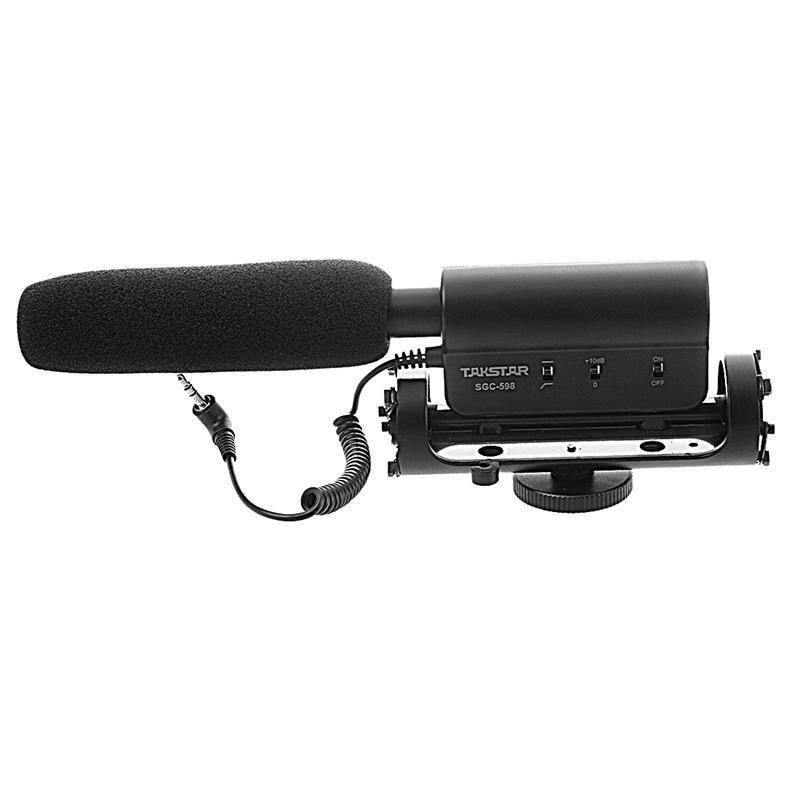 TAKSTAR SGC-598 Condenser Photography Interview Recording miniphone for Canon Nikon Camera DSLR DV