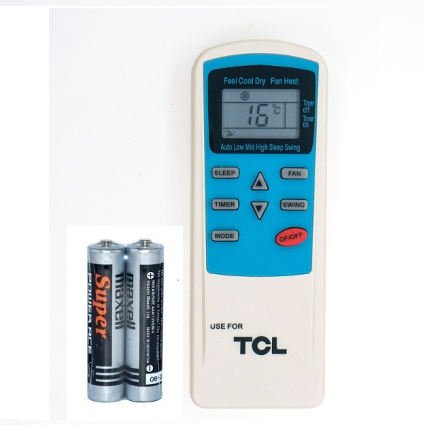 Remote Điều Khiển Máy Lạnh, Máy Điều Hòa TCL Royal 9000BTU, KTTCL001 (Kèm Pin AAA Maxell)