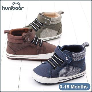 Baby Trai Giày Dép Mềm Duy Nhất Không Trượt Trung-Cao Giày Bé Giản Dị 0-18 Tháng