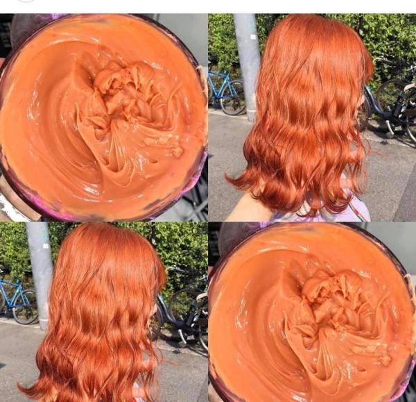 Tự nhuộm màu Cam đào tại nhà, hàng nội địa Việt Nam, không gây hư tổn cho tóc (Trọn bộ tặng gang tay, trợ nhuộm) cao cấp