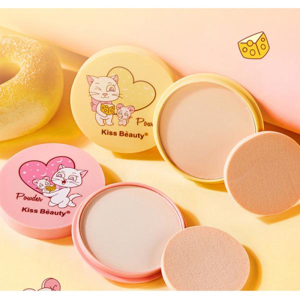 Phấn Phủ Kiềm Dầu Dạng Nén Kiss Beauty Cartoon Cheese giá rẻ