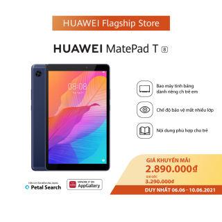 Máy tính bảng Huawei MatePad T8 (2GB/32GB)   Vi xử lý MediaTek MT8768 8 nhân   Độ phân giải HD 1280 x 800 pixel   Dung lượng pin ấn tượng 5100 mAh   6.6-10.6