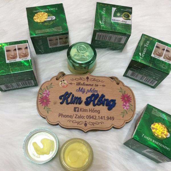 Kem Trà Xanh Green Tea Hua Shu Li Seven Day Trắng Da Nám, Tàn Nhang