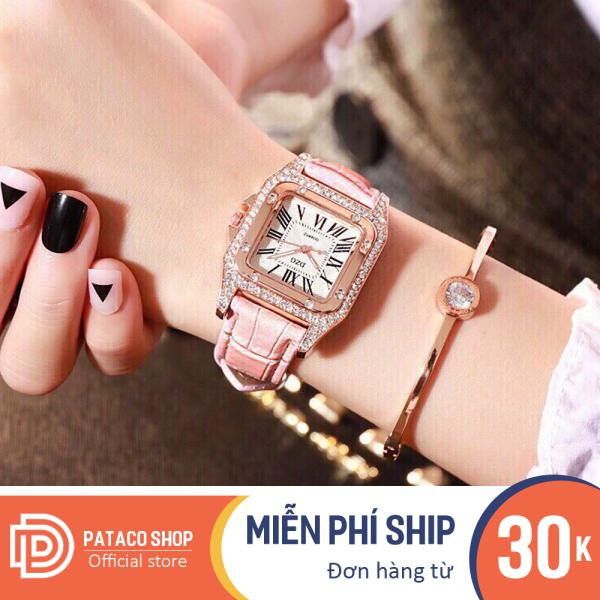 Nơi bán Đồng hồ thời trang nữ DZG D155 dây da cao cấp đính đá cực đẹp bảo hành đồng hồ 6 tháng