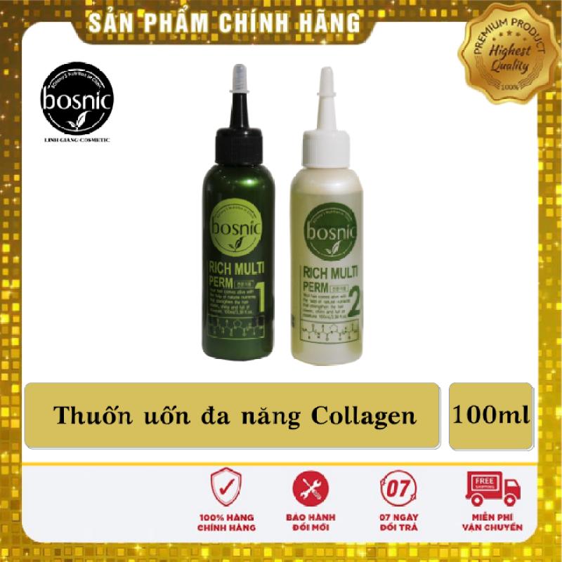 Thuốc Uốn Đa Năng Collagen Bosnic - Rich Multi-Perm 100ml - Chính Hãng Hàn Quốc giá rẻ