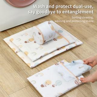 Homenhome lưới túi giặt polyester có khóa kéo, máy giặt - hình 3