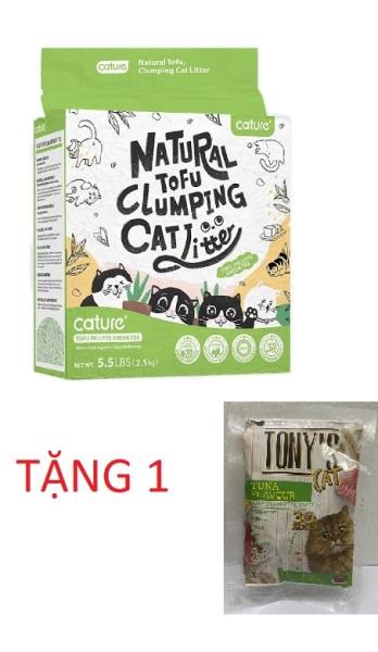 (TẶNG 1 BỊCH HẠT TONY CHO MÈO) Cát vệ sinh đậu nành cho mèo - Cature 5.5L  cao cấp siêu khử mùi và tiết kiệm