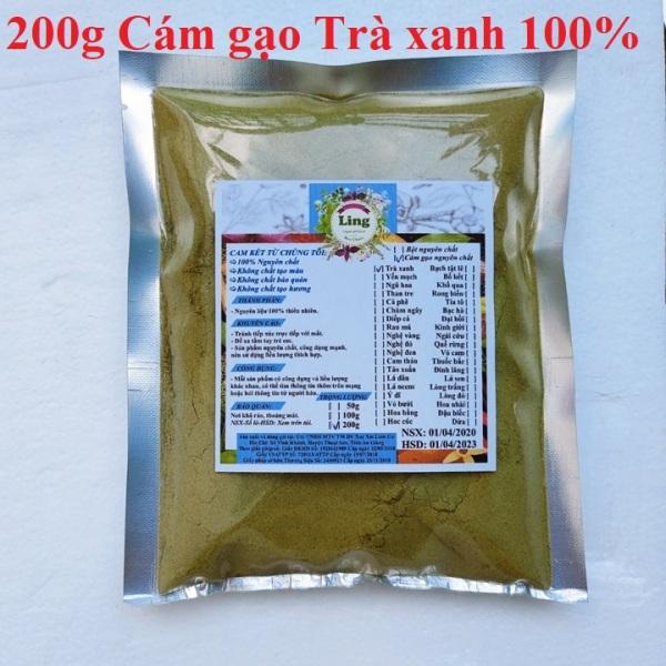 Bột Cám gạo trà xanh 200g có giấy VSATTP và ĐKKD nguyên chất thiên nhiên 100% dùng để đắp mặt đa công dụng nhập khẩu