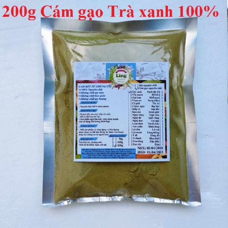 Bột Cám gạo trà xanh 200g có giấy VSATTP và ĐKKD nguyên chất thiên nhiên 100% dùng để đắp mặt đa công dụng giá rẻ