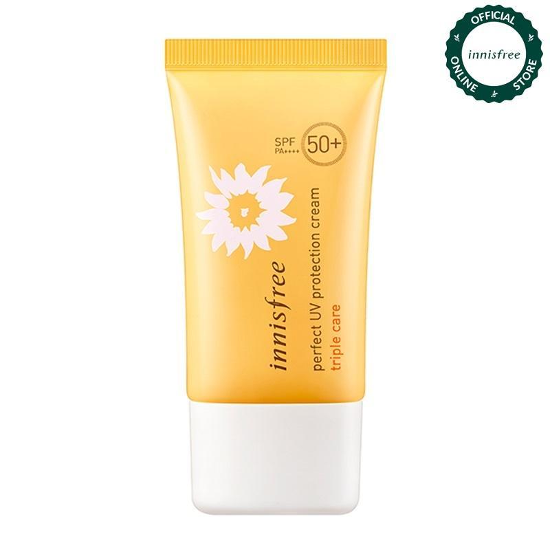Kem chống nắng toàn diện đa chức năng Innisfree Perfect UV Protection Cream Triple Care SPF50+/PA++++ 50ml (NEW) nhập khẩu